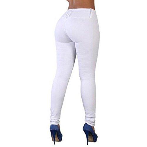 de TieNew Vaqueros Hipsters Pantalones Pantalones mezclilla para blanco mujer mujeres Slim Fit Stretch Skinny Slimline Mujer Jean pitillo qwP6IHtx