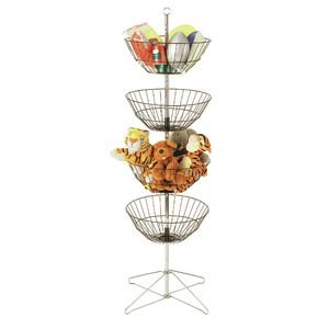 4-Tier Dump Bin Basket Display Black Toy Dump Display