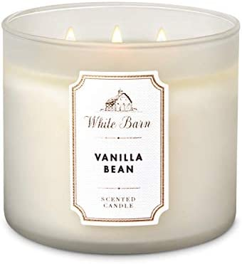 Amazon Com Bath And Body Works White Barn Vanilla Bean 3 Wick Scented Candle Pure White Version 14 5 Ounces 411 Grams Home Improvement