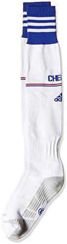 adidas Performance Mens Chelsea CFC Football Soccer Home Kit Socks - White