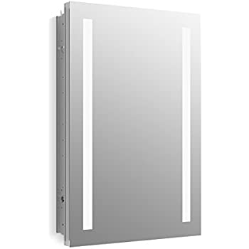Kohler K 99003 Tl Na Verdera 20 Inch X 30 Inch Led Lighted Bathroom Medicine Cabinet Slow Close