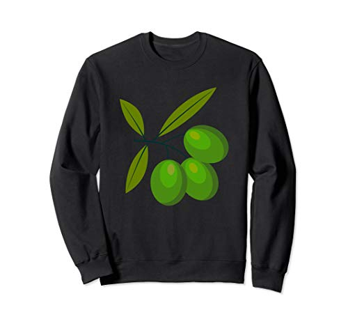 Green Olives - Olea Europaea Food Botany Cooking Cook Chef Sweatshirt (Best Way To Cook Scrapple)
