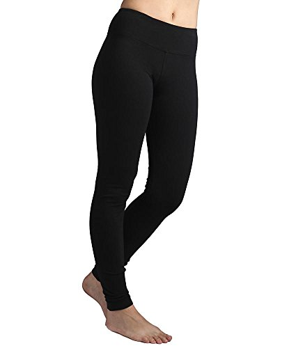 Hard Tail Flat Waist Ankle Yoga Leggings, L, Black