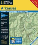 National Geographic TOPO! Arkansas Map CD-ROM (Windows)