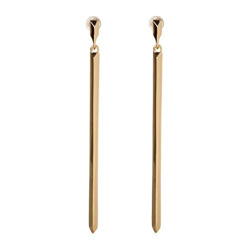 BCBG Generation 12k Linear Bar Drop (Bar Drop Dangle Earrings)
