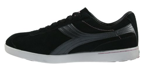 Diadora Fashion Laceup Suede Black Womens Donna Sneakers Bellesimo by vEqwYw4B