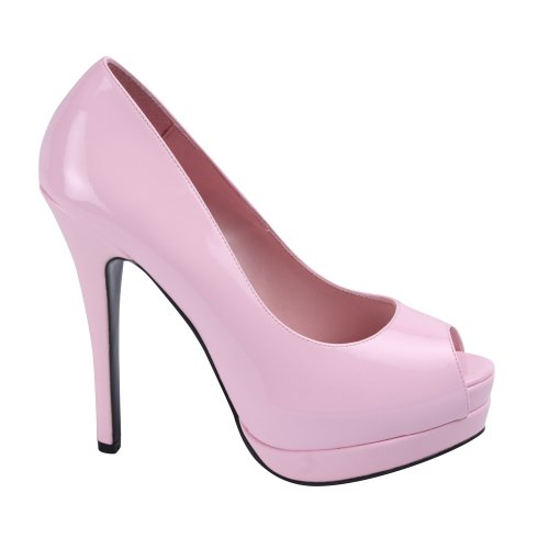 35 Pink Lack 12 Bella High Sexy Pumps Plateau 43 Bordello Peeptoe Baby Burlesque Pink Baby Heels z7APxwq