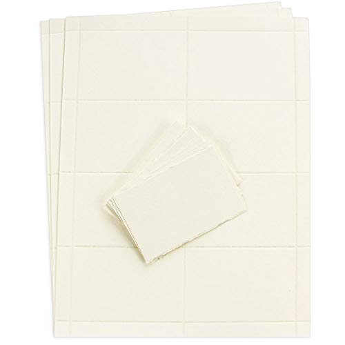 Medioevalis Deckle Printable Escort Cards - Cream, 115lb Cover, 5 Pack
