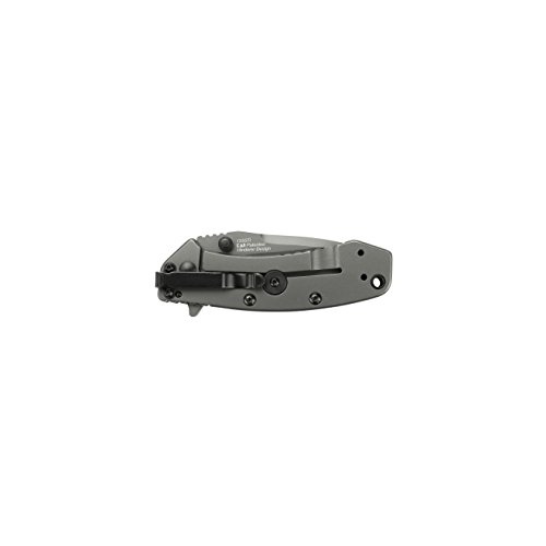 """Kershaw Cryo (1555TI); 2.75"""" 8Cr13MoV Steel Blade and Stainless Steel Handle with Titanium Carbo-Nitride Coating, SpeedSafe Assisted Opening, Frame Lock, 4-Position Deep-Carry Pocketclip; 4.1 OZ."""