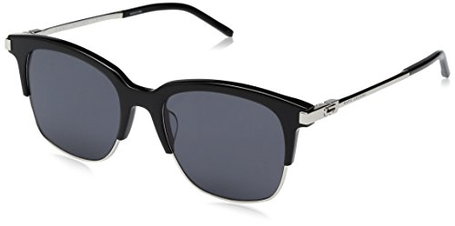 Marc Jacobs Women's Marc138s Square Sunglasses, Black Palladium/Gray Blue, 51 (Palladium Black Sunglasses)