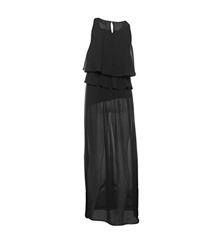LA schwarz Damen MARABOUTEE Noir 700 FEE Maxikleid gxgqUrTPw