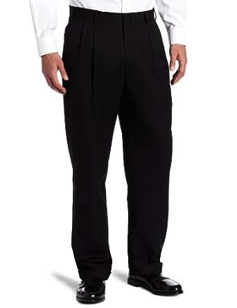 Dockers Men's Suit Separate Pant, Black Solid Herringbone, 33W x 30L