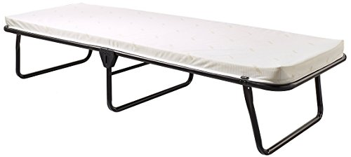 (Jay-Be Saver Folding Bed with Airflow Mattress, Regular, Black/White)