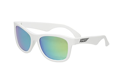 Aces fueled by Babiators Boys Aces Navigator Sunglasses, Wicked White with Green Lenses, One Size - Wicked Sunglasses