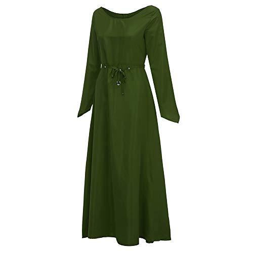 Women Renaissance Dress Clearance Sale,NDGDA Plus Size Vintage Long Sleeve Bandage Long Party -