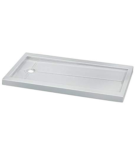 Fleurco ABF3242-18 Quad Acrylic In Line Center Drain Rectangular Shower Base With Finish: White And Base Size: 42