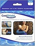 CastShield Waterproof Cast Cover & Bandage Protector, Large Blue