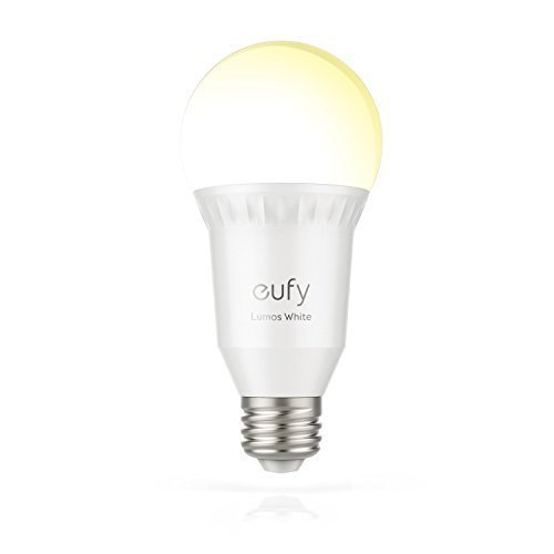 Eufy Lumos Smart Bulb - White, Soft White (2700K), 60W Equivalent, Works With Amazon Alexa & the Google Assistant, No Hub Required, Wi-Fi, Dimmable LED Bulb, 9W, A19, E26, 800 Lumens (Hub Components)