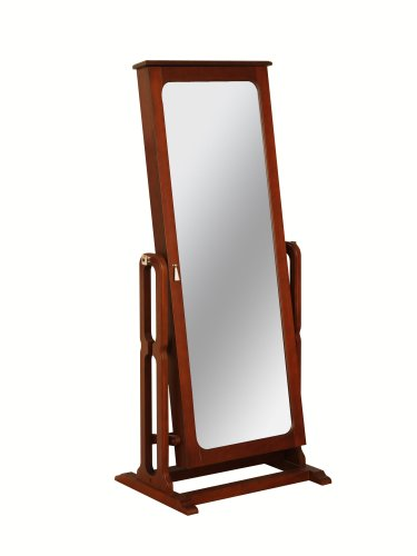 Powell Dakota Cheval Jewelry Wardrobe with Full-Length Mirror, Marquis Cherry