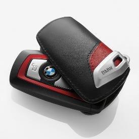 Genuine BMW Sport Line Key Case - Black & Red (For 3 Series Sedans 2012+)