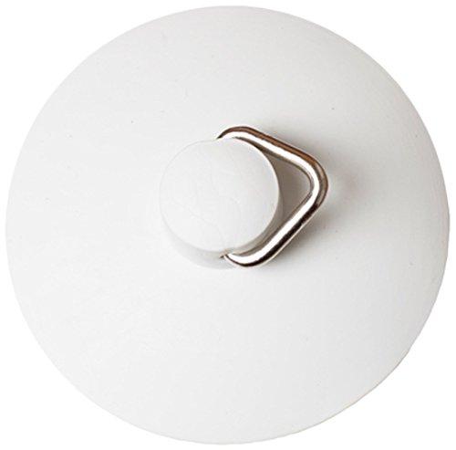 Bulk Hardware BH01908 Self Parking Self Seating Universal Basin or Bath Plug, 57mm (2.1/4 inch) Diameter- White
