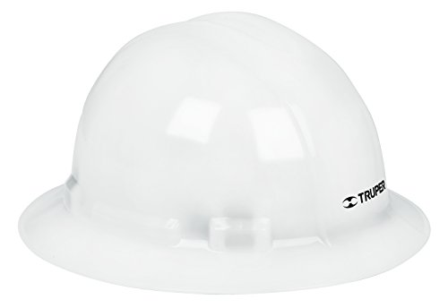 Truper CAS-BX, Casco de seguridad, blanco, ala ancha