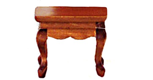 Melody Jane Dollhouse Classic Walnut Side Lamp Occasional Table Miniature - Dollhouse Walnut Miniature Table