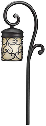 Kichler 15426BKT Almeria Path & Spread 1-Light 12V, Textured Black