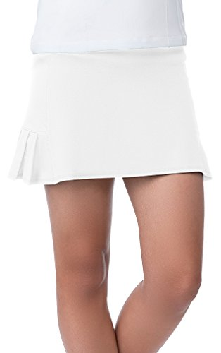- Fila Girl's Pleated Back Comfort Skort M, White/White