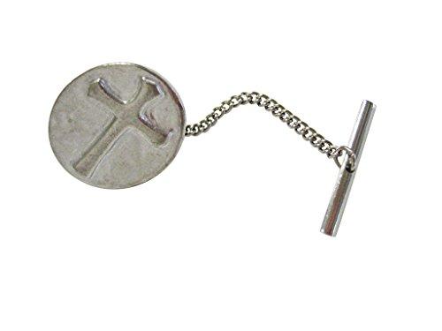 Oval Religious Cross Tie Tack