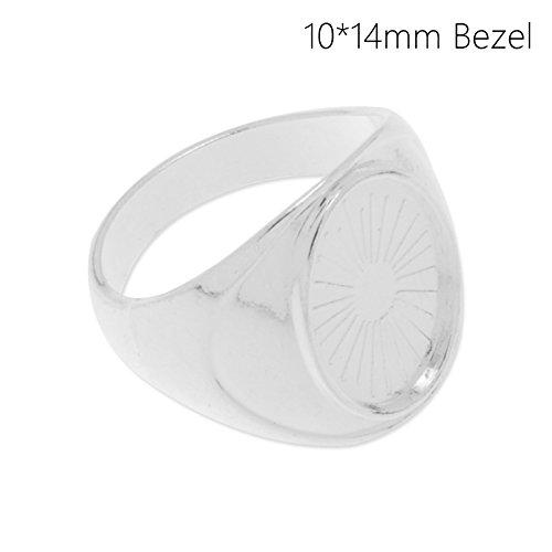 10x14mm Blank Bezel Settings Ring Base-20pcs/lot (10005801) Rosebeading
