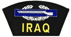 "IRAQ COMBAT INFANTRYMAN BADGE BLACK PATCH(Can be sewn or ironed on jacket or hat) Patch 3""x5"""