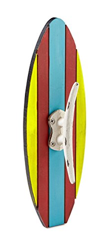 AdirHome Surfboard Design Coat Hook - Hat Hook - Towel Hook ()