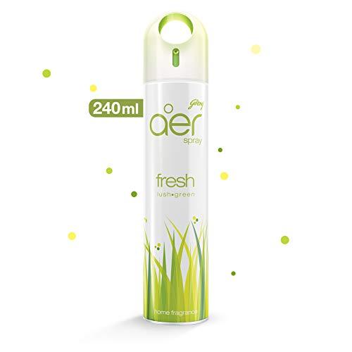 Godrej aer spray, Home & Office Air Freshener – Fresh Lush Green (240 ml)