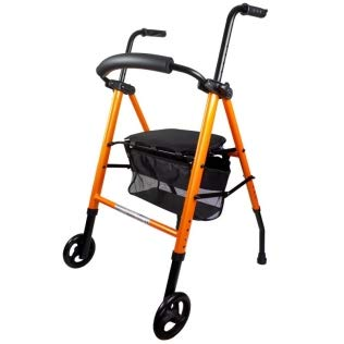Mobiclinic, Modelo Nerón, Andador para minusvalidos, ancianos, mayores o adultos, de aluminio, ligero, plegable, con asiento, cesta y 2 ruedas, Color ...