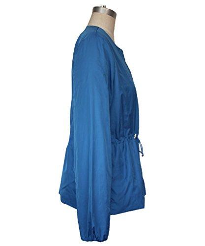 Hoffen Mujer Chaqueta Cremallera Jackets Slim Fit Coat Azul