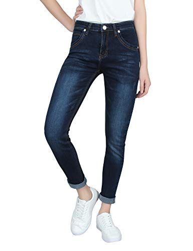 Demon&Hunter 608 Series Femme Skinny Jeans E8058 X Mode Marine X Normal