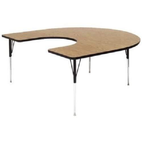- Correll A6066-HOR-06 Horseshoe Top Activity Table, Medium Oak