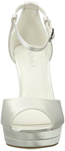 Femme Chaussures Menbur Compensées Wedding Angelis 04 Ecru Ivory wI486aq