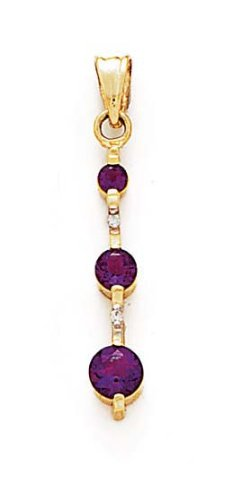 14 carats-Améthyste-Diamant-JewelryWeb bruts