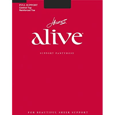 Hanes Womens Set of 3 Alive Full Support Control Top RT Pantyhose at Women's Clothing store