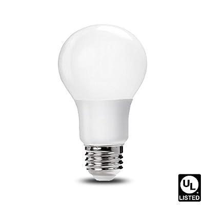 Luxrite LR21390 9W LED A19 Light Bulb, 60W Equivalent, Warm White 2700K, E26 Base, UL-Listed