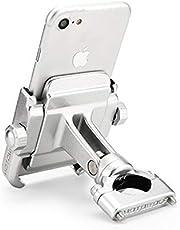 CSMDELAY Telefoonhouder 22mm Handvat Bar Beugel Moto Accessoires GPS Navigation Mount Bracket Plate voor K*T*M DUKE 390 2017-2019 hncsm (Color : Silver phone holder)