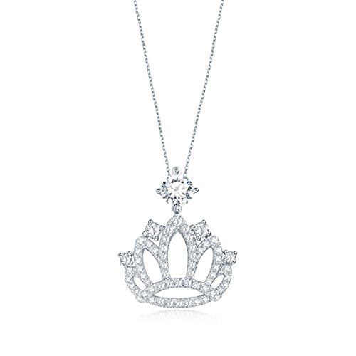 Gnzoe Pendant for Womens Crown Pendant with CZ D