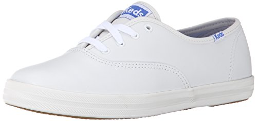 Keds Women's Champion Oxford Leather Sneaker,White,US 8 SS