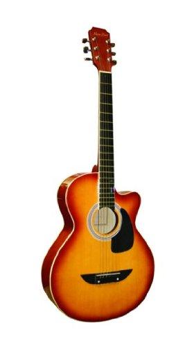 Main Street Guitars MAS38SB 38-Inch Acoustic Cutaway Guitar in Sunburst Finish