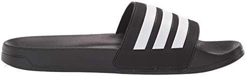 31E6lrCWFmL. AC adidas Men's Adilette Shower Slides    Arsenal and adidas, together again. These swim slides show off the club's classic colours and crest. Slip them on in the locker room, on the beach or when you're running to the store. ImportedRubber soleShaft measures approximately low-top from archContoured-footbedEVA-outsole-for-lightweight-comfortSoft-Cloudfoam-footbed-for-quick-dry-comfortSingle-bandage-synthetic-upper-with-3-Stripes