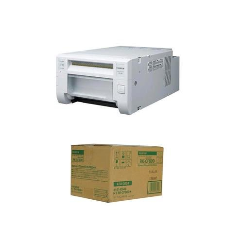 Fujifilm ASK 300 Quick Print Station Dye-Sublimation Digital Printer System - WITH Fujifilm 4 x 6'' Dye-Sub Media for ASK-300 (800 Prints)