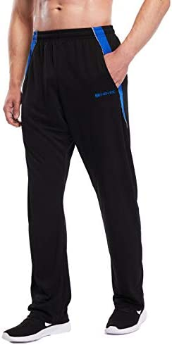 ZENGVEE Mens Sweatpants Open-Bottom Workout Jogger Pant with Pockets