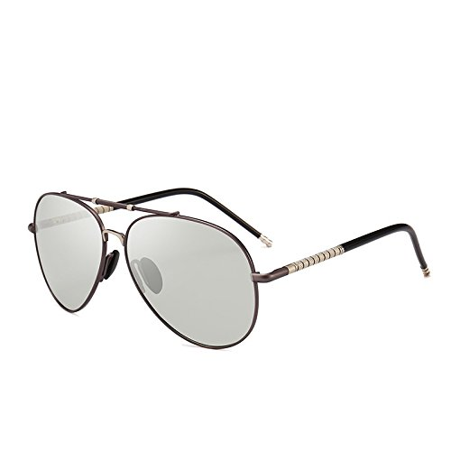 Sol el Gun Sol de Photochromic Gafas de para Chameleon para Unisex Adultos Cambio Gafas Gun Todo Color Piloto HD Sol MXNET de Gafas Color día polarizado de TEqwOA